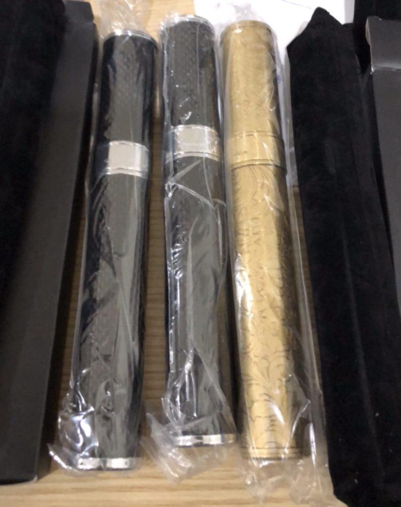 Ống Bảo quản xì gà thép vân carbon hoặc vân sắt